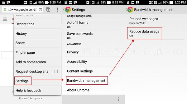 Cara aktifkan fitur kompresi google chrome