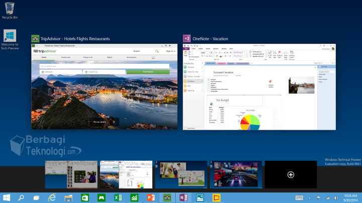 Windows 10 Preview Virtual Desktop