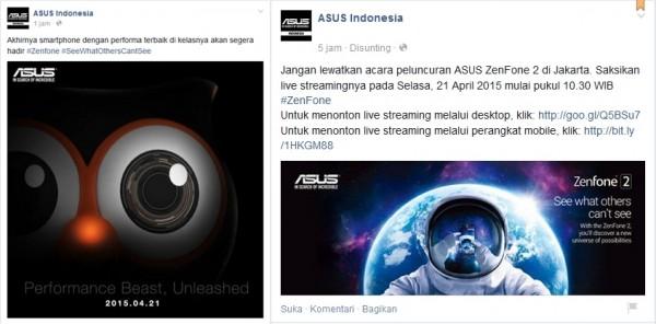 Rilis ZenFone 2 di Indonesia