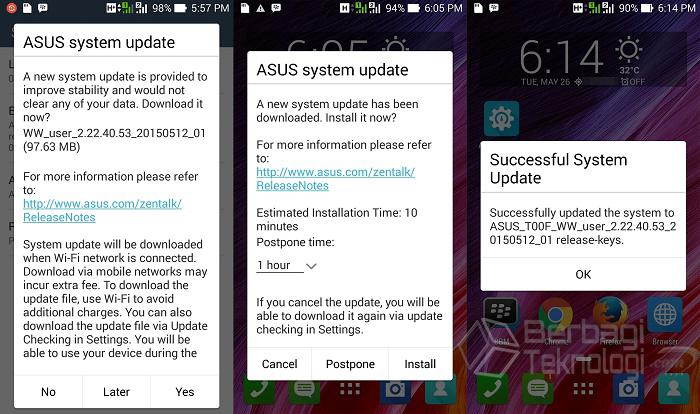 ZenFone 5 OTA Update Versi 2.22.40.53