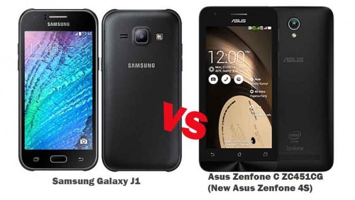 samsung galaxy j1 vs asus zenfone c