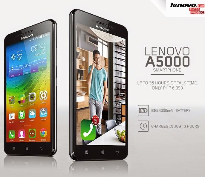 Lenovo A5000 Ponsel Dengan Daya Baterai Tahan Lama Berbagi Teknologi