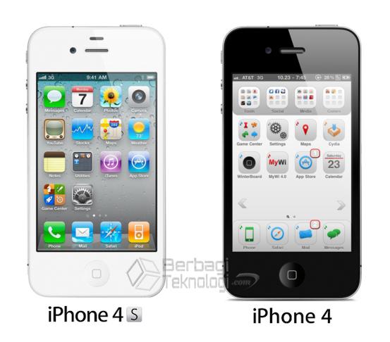 Perbedaan Spesifikasi iPhone 4s dan iPhone 4