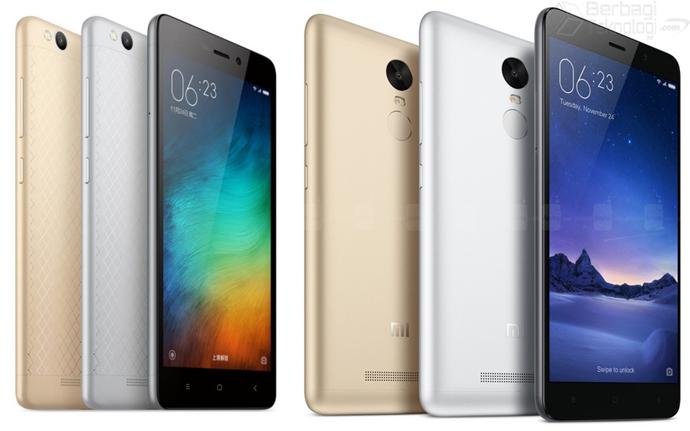 Perbedaan Xiaomi Redmi 3 dan Redmi Note 3