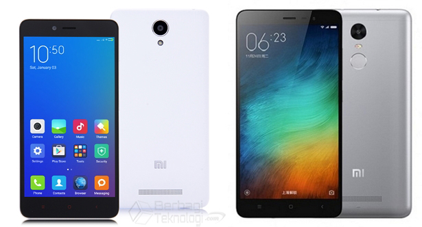 Xiaomi Redmi Note 2 dan Redmi Note 3