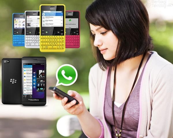 WhatsApp untuk BlackBerry dan Nokia