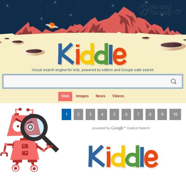 Kiddle Mesin Pencari Khusus Anak