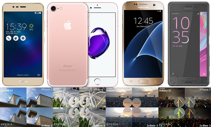 iPhone 7, Galaxy S7, Xperia X, dan Zenfone 3