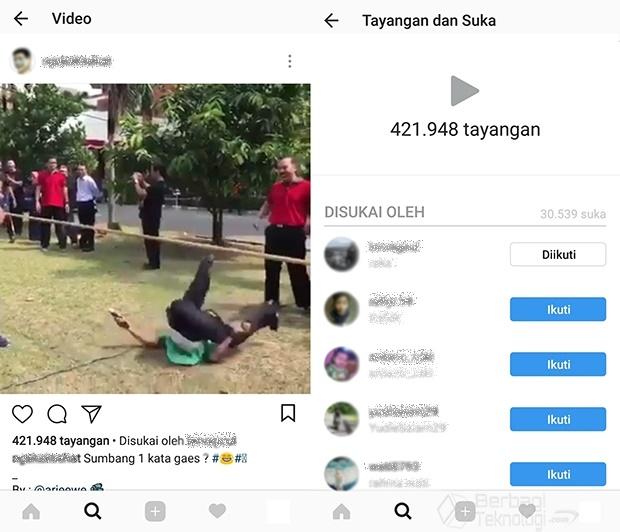 Cara Melihat Viewer Video Instagram