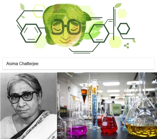 Asima Chatterjee Google Doodle Hari Ini
