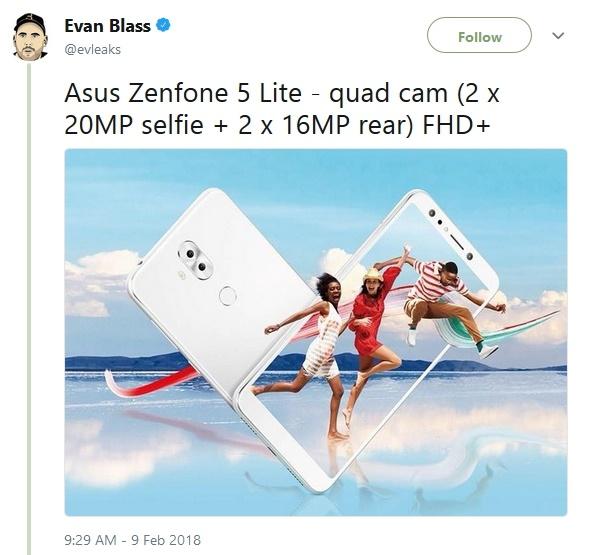 Asus Zenfone 5 Lite Evan Blass @evleaks