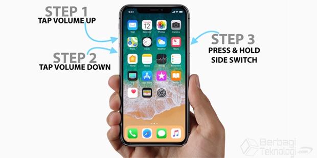 Cara Restart Paksa iPhone X dan  iPhone 8