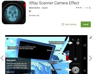 Kamera tembus pandang Android asli