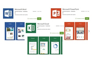 Microsoft Word, Excel, PowerPoint