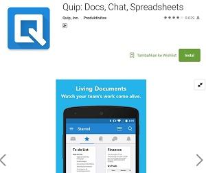 Quip-Docs, Chat, Sheets