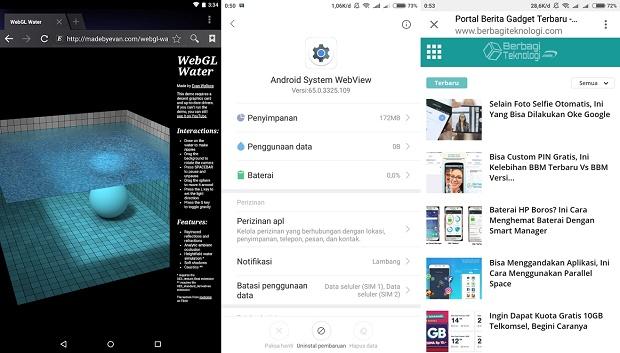Cara Menggunakan Android System Webview