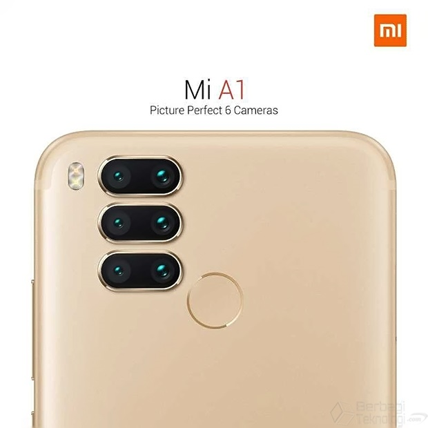 Xiaomi Mi A1 Terbaru dengan 6 Kamera